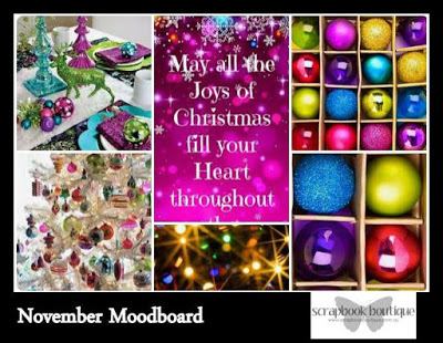Scrapbook Boutique - Nov 2016 Mood Board Inspiration Challenge