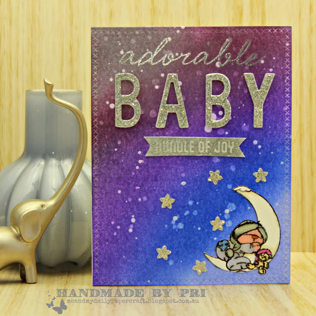 Me And My Daily Papercraft Blog - Handmade Card by Pri
